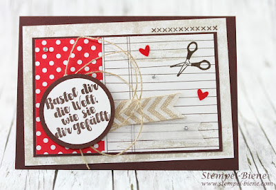 stampin up karte; Stampinup blog; Match the Sketch; Stampin Up Aus der Kreativkiste; Schlichte Grußkarte; Stempel-biene