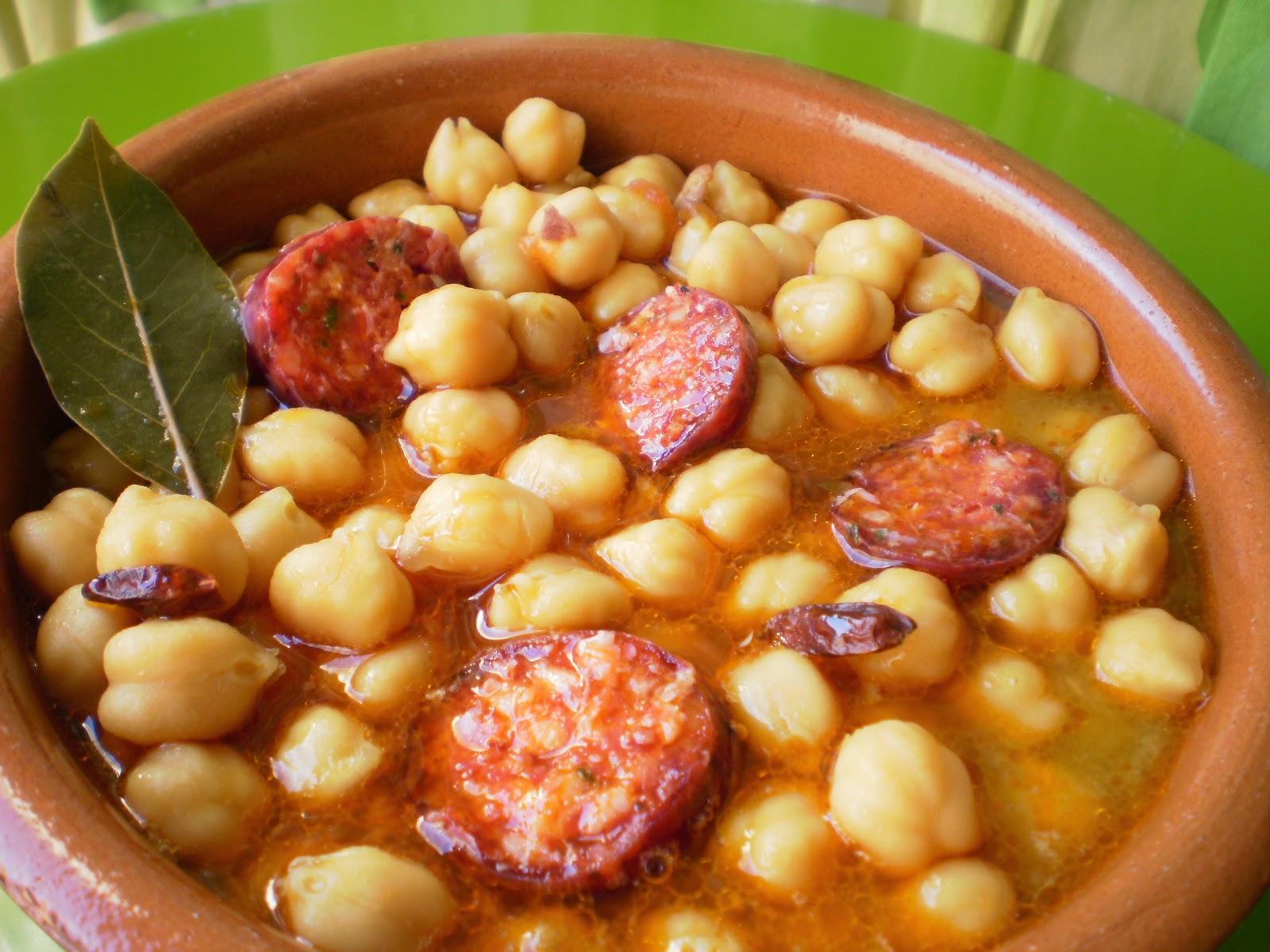Mi cocina potaje de garbanzos con chorizo - Bacalao con garbanzos y patatas ...