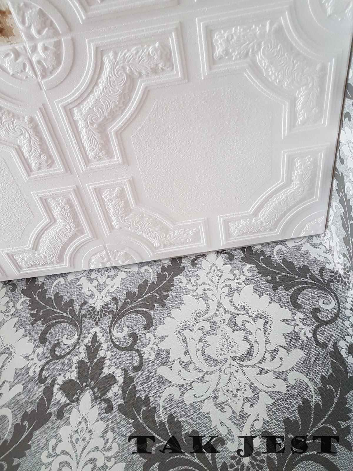 Remont - tak jest - sufit - kasetony - tapety - ściany