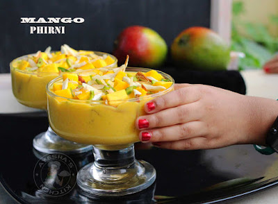 phirni firni fereni payasam mango kheer pudding rice pudding indian recipes eid ramadan sweets ifthar recipes desserts festive puddings