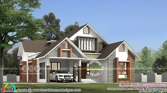 1533 square feet 3 bedroom sloping roof home