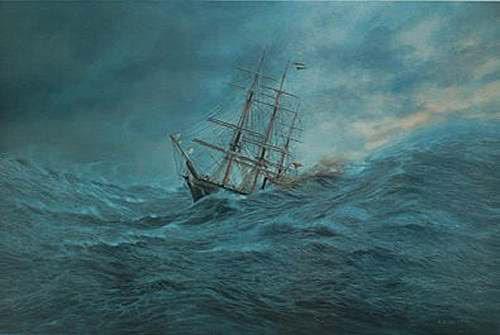 Image result for kapal layar hadapi ribut taufan di lautan
