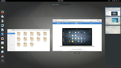 GNOME 3.24 desktop