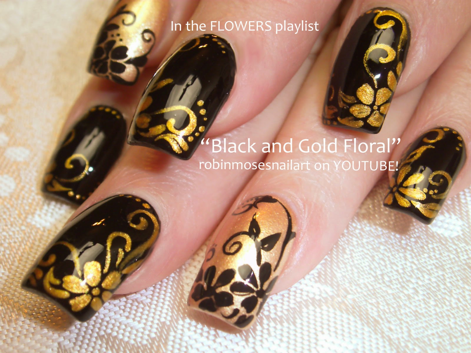 Black And Gold Nail Polish Ideas