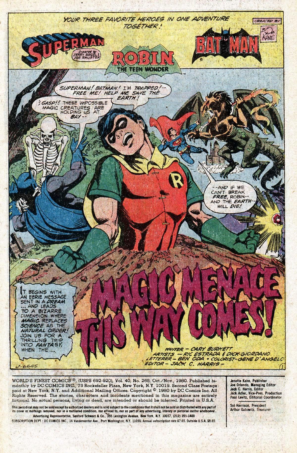 Read online World's Finest Comics comic -  Issue #265 - 3