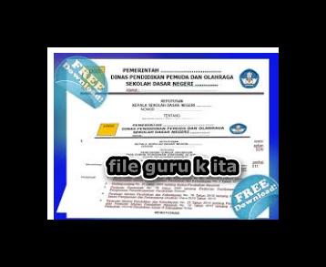 Aplikasi Cetak SK Guru Honorer Lengkap Dengan Surat Tugas//file guru kita