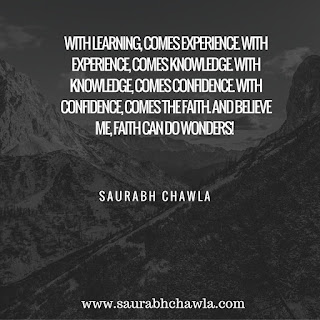 Quotes on faith by saurabh chawla