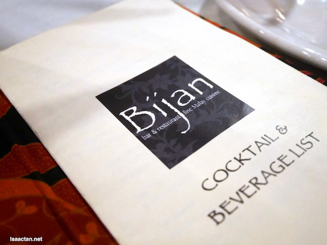 Bijan, where the food's good and all
