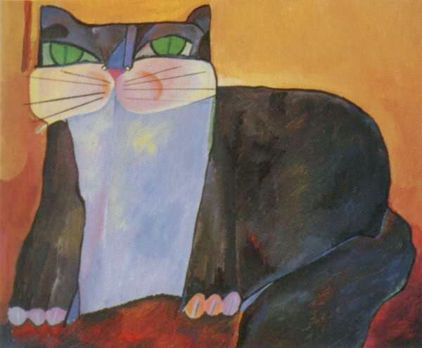 Gato Preto - Aldemir Martins e suas pinturas ~ O pintor de gatos