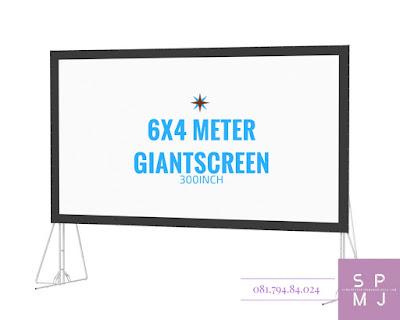 Sewa Layar Lebar / Giant Screen 6x4 Meter | Rental / Persewaan / Penyewaan Lcd Projector Infocus Sewa Proyektor Murah Yogyakarta