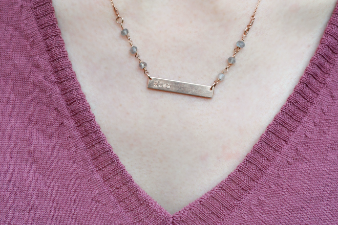 fashionable customizable horizon necklace