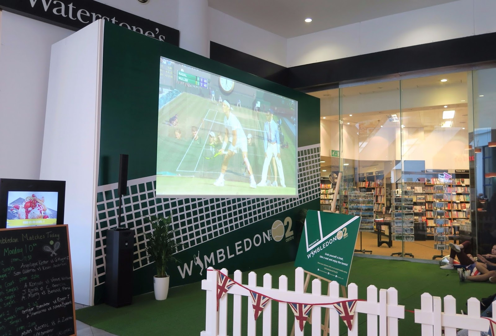 Screening of wimbledon match