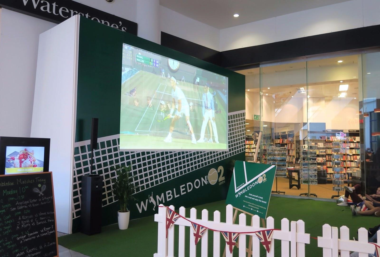 Screening of wimbledon match