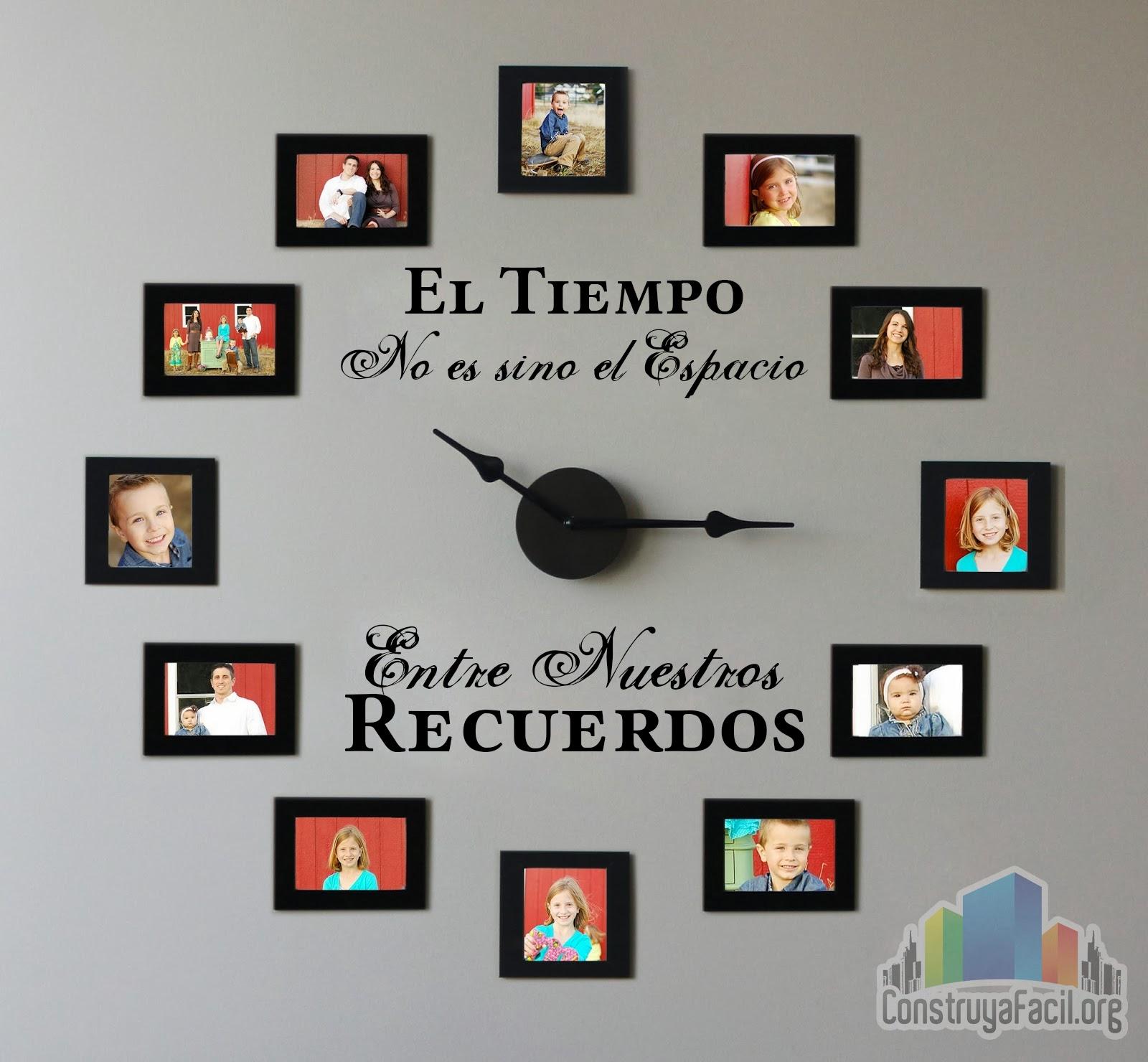 Reloj de fotografías para la decoración de tu hogar
