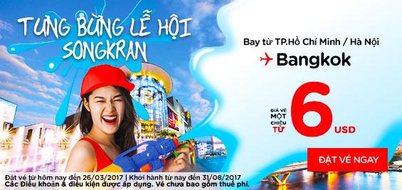 Tưng bừng lễ hội Songkran giá 6 usd