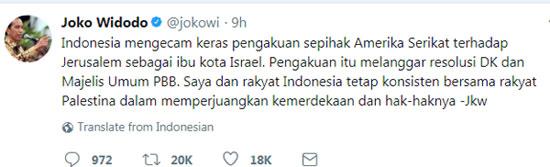 Joko Widodo on Twitter