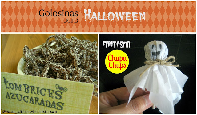 Halloween: fantasma chupa-chups y golosinas terroríficas / Halloween lollipop ghost and scary gummy worms