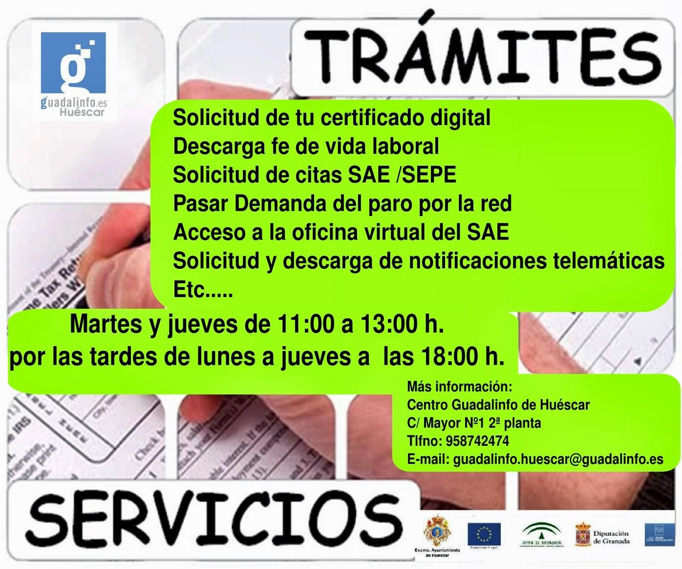 Centro Guadalinfo De Huescar Tramites Administrativos Solicitud De