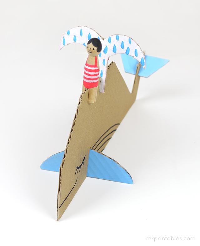 Decorar en familia: Animales marinos de cartón descargables7