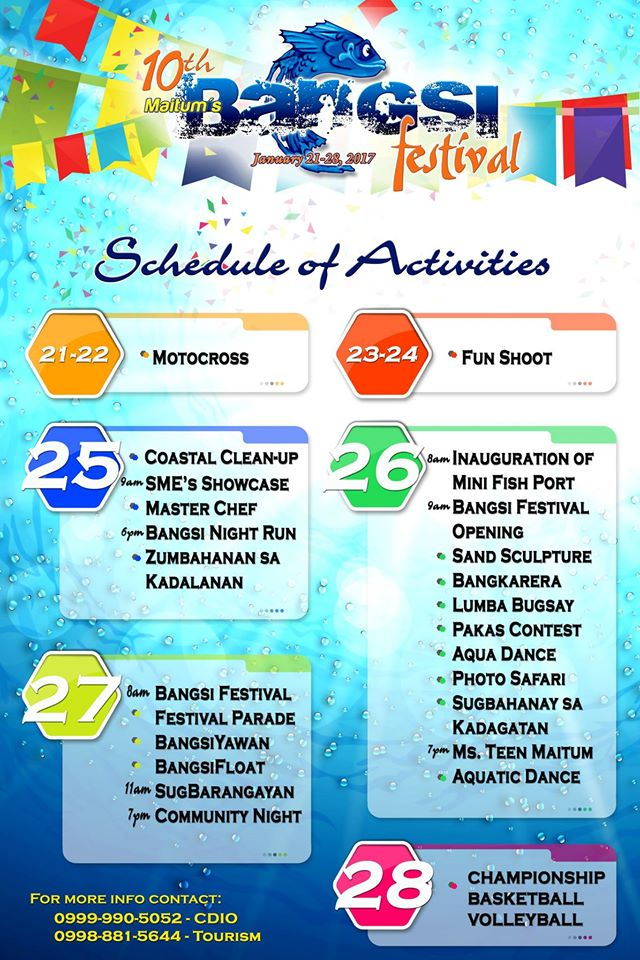 Bangsi Festival 2017 Schedule of Activities