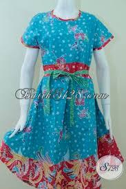 Dress Batik Guru Wanita Muslim Terbaru
