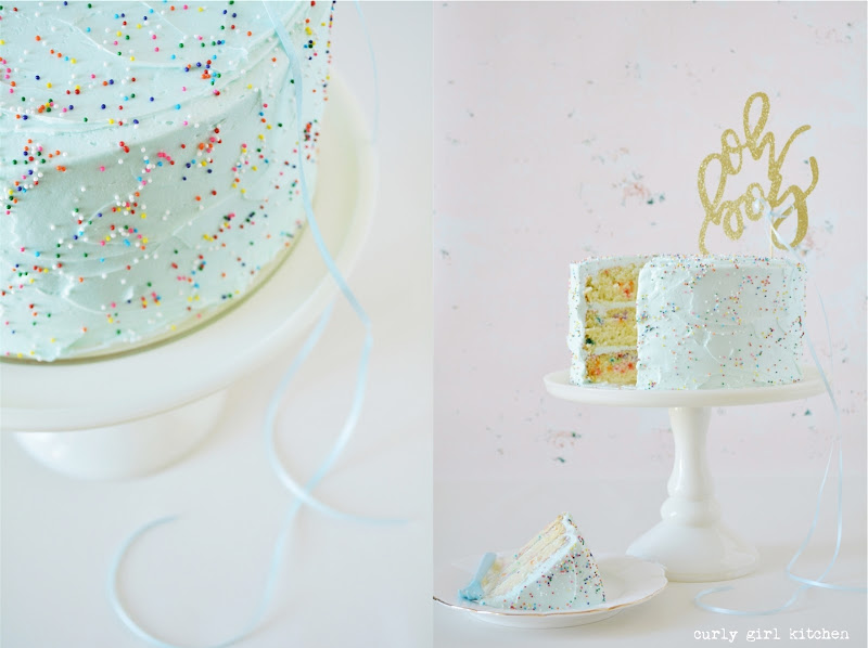 Funfetti Cake, Oh Boy, Baby Announcement, Baby Boy, Gender Reveal