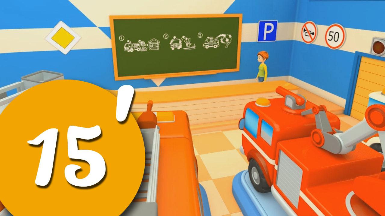 Compilation di cartoni animati per bambini carschool! i camion dei