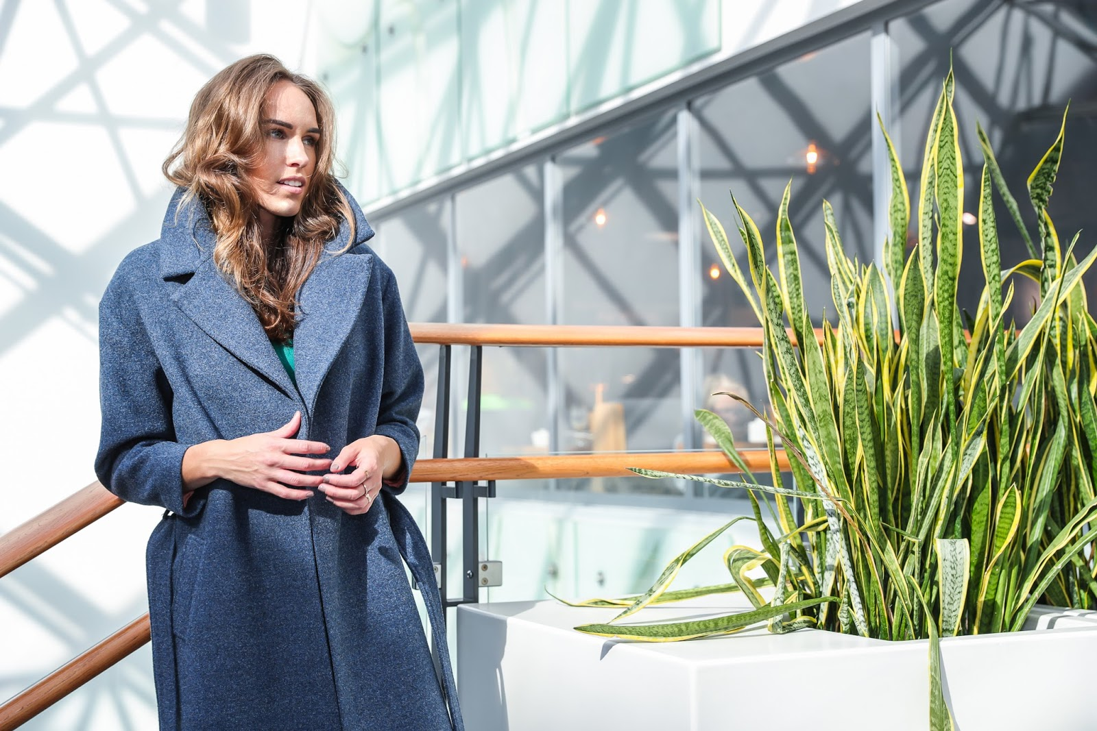 iris janvier dark gray wool coat