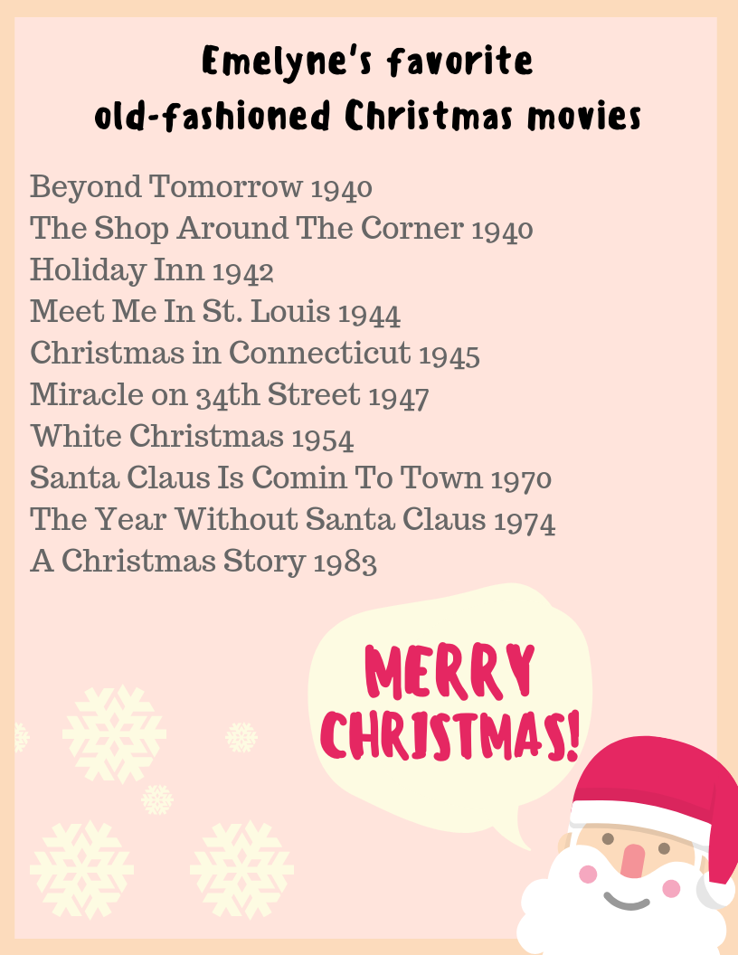 My favorite old-fashioned Christmas movies - Emelyne