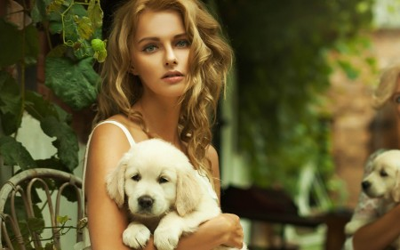 Cute Wallpapers Of Dogs And Puppies Beautiful Woman With Animal All About Photo