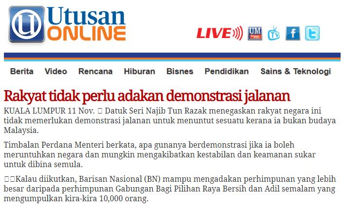 Demonstrasi bukan budaya Malaysia