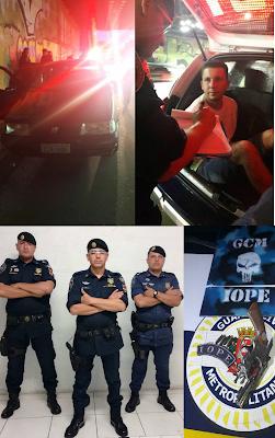 IOPE da Guarda Civil Metropolitana detém elemento por porte ilegal de arma de fogo de uso restrito