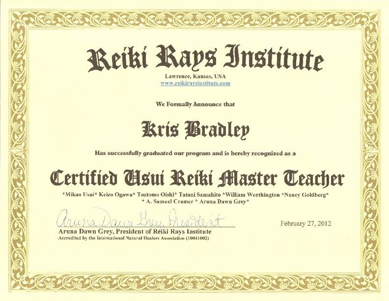 pin reiki certificate printable - photo #35