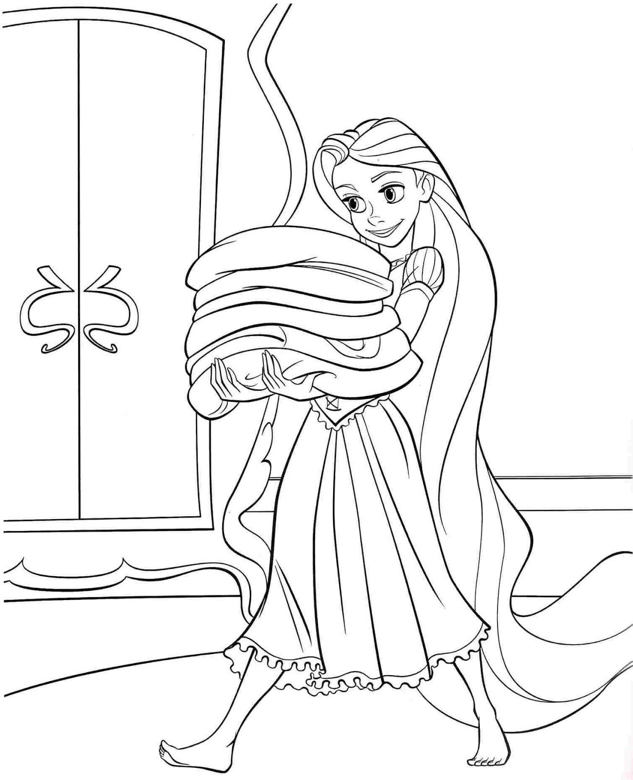 Mewarnai Gambar Putri Rapunzel Suka Mewarnai