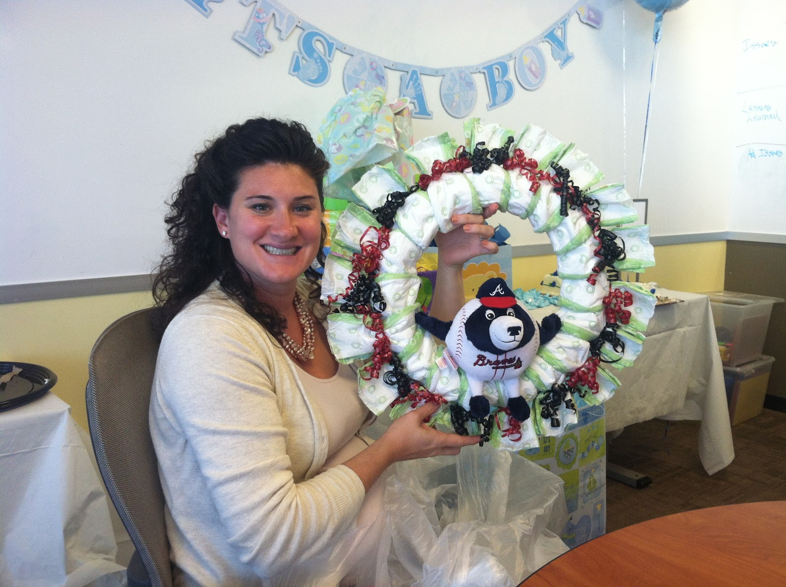 Ally and Callie: The Other 128 Hours: DIY Diaper Wreath ...