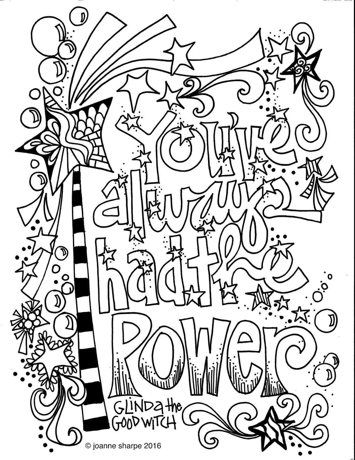"quote coloring pages for adults | Whimspirations: WHIMSICAL WEDNESDAY....""Color Power"""