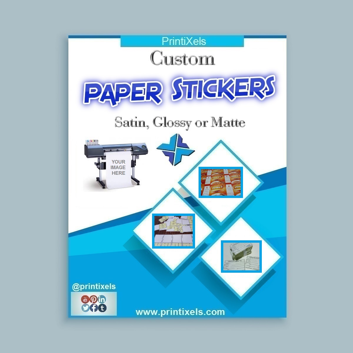 Custom Paper Sticker Labels - Satin, Glossy or Matte