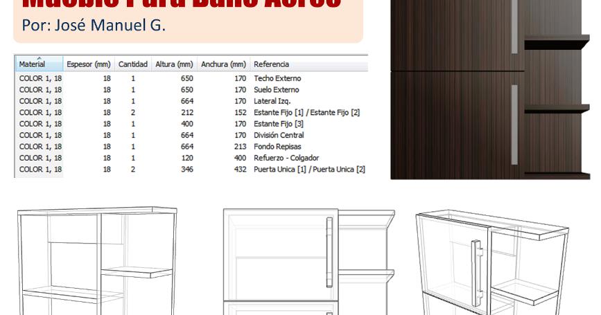 Diseo De Muebles Madera Lista de Piezas Mueble Para