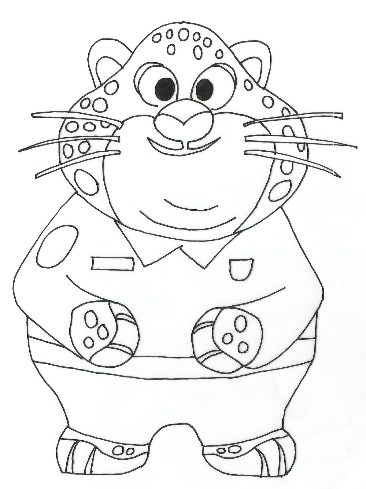 free zootopia coloring pages - photo#14