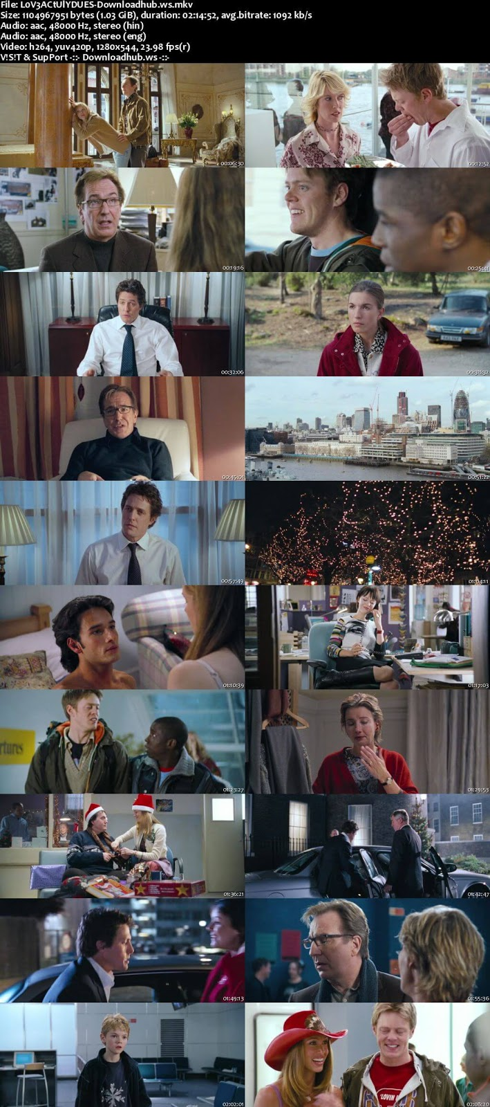 Love Actually 2003 Hindi Dual Audio 720p BluRay Free Download