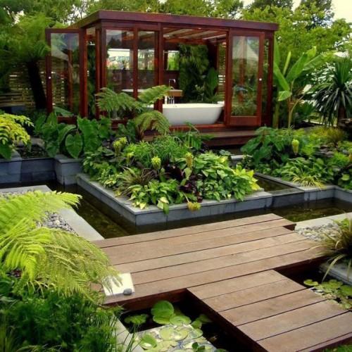 Impresionantes ba os decorados con plantas naturales for Decoracion de casas con plantas naturales