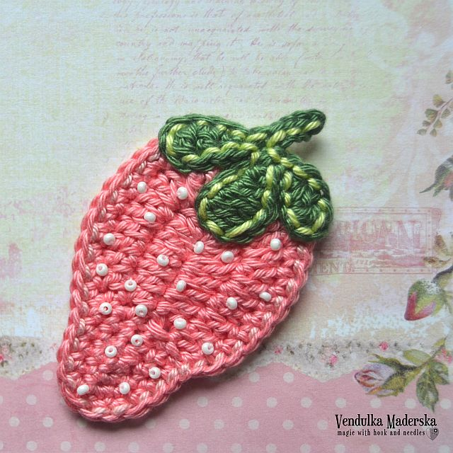 crochet strawberry