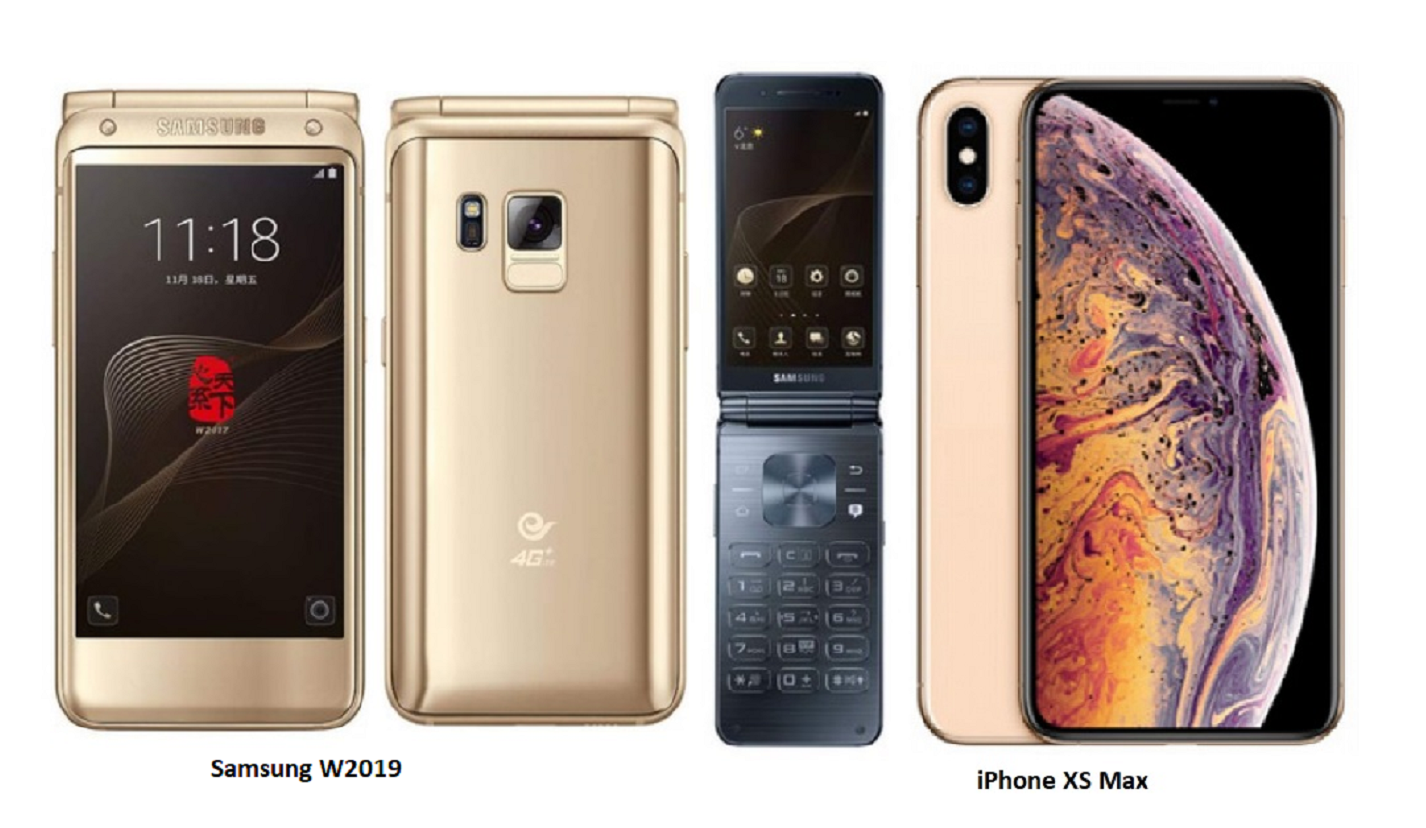 iPhone XS Max Vs Samsung W2019 Specifications Comparisons