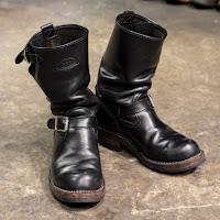 ブラックタイ・ドメインレザーにカスタムされたボスの経年変化。-WESCO JAPANスタッフブーツ