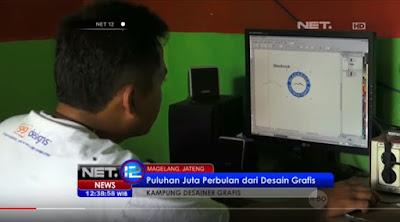 Kaliabu, Kampung Desain Tempat Perajin Logo yang Mendunia