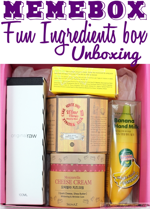 Fun Ingredients Memebox review, unboxing