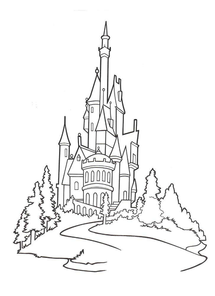 Dibujos para colorear de los escenarios