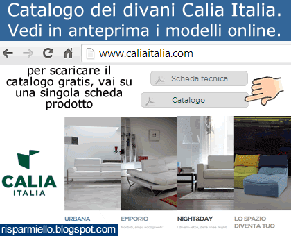 Risparmiello catalogo divani calia italia for Catalogo divani