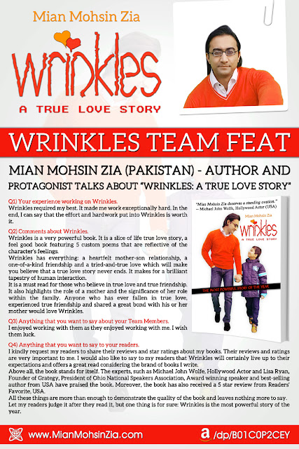 Wrinkles - Team Feat - Mian Mohsin Zia (Author and Protagonist) Talks about Wrinkles.