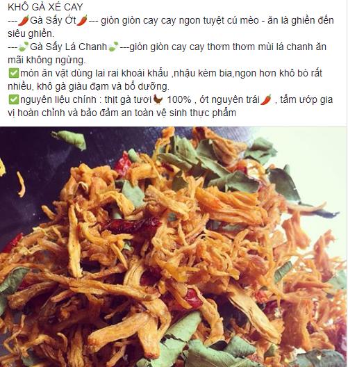 Khô gà lá chanh - mẫu quảng cáo điển hình cho việc Facebook Marketing hiệu quả